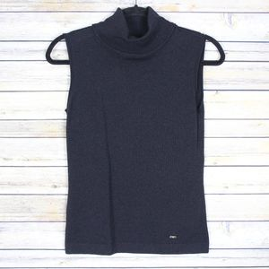 Escada Turtleneck Knit Top Wool Cashmere Silk 34